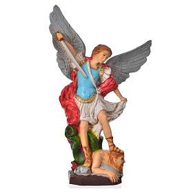 Statua San Michele Arcangelo 20 cm materiale infrangibile s1
