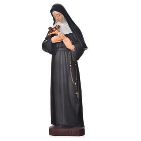 Statua Santa Rita 30 cm materiale infrangibile s1