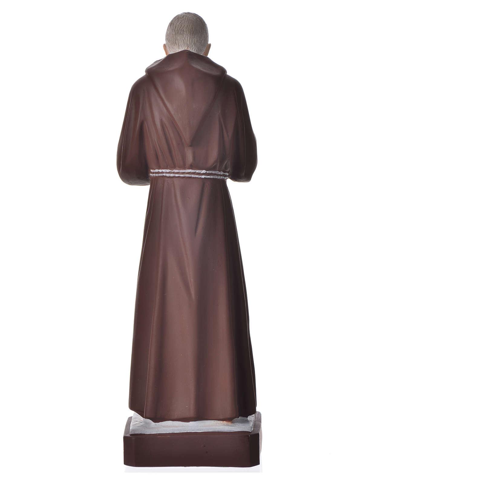 Statue Padre Pio 30 cm pvc incassable 4