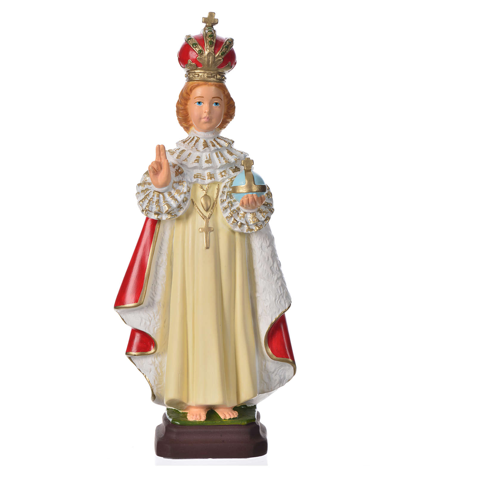 Gesù Bambino di Praga 30 cm materiale infrangibile 4