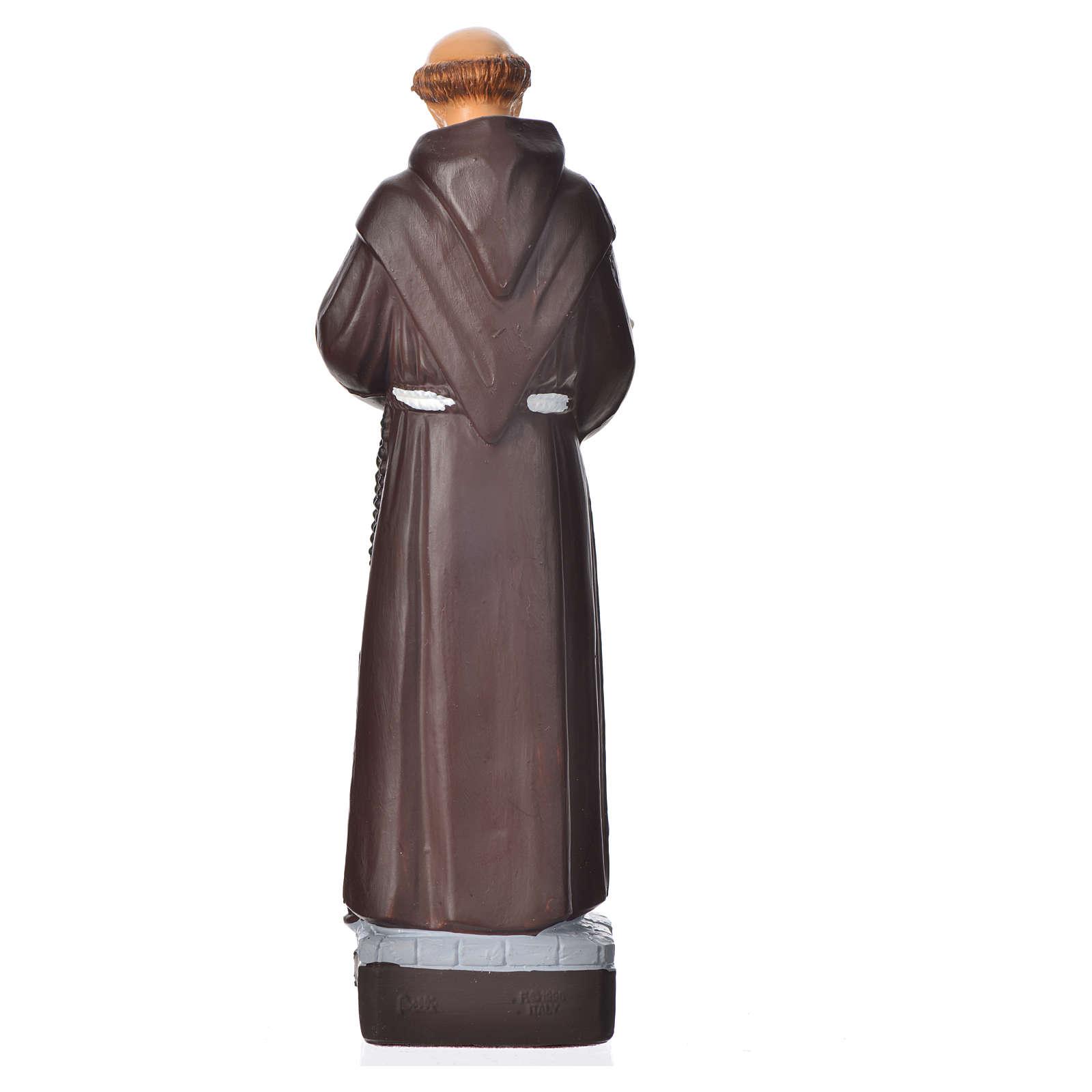 Saint François d'Assise statue pvc incassable 16 cm 4