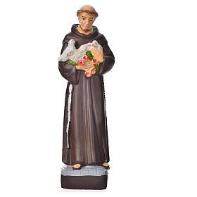 Saint François d'Assise statue pvc incassable 16 cm s1