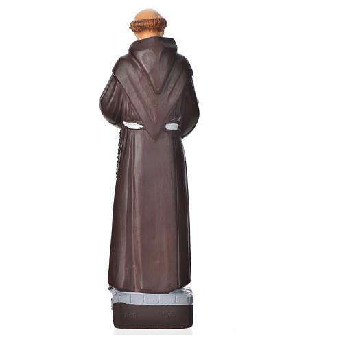 Saint François d'Assise statue pvc incassable 16 cm 2