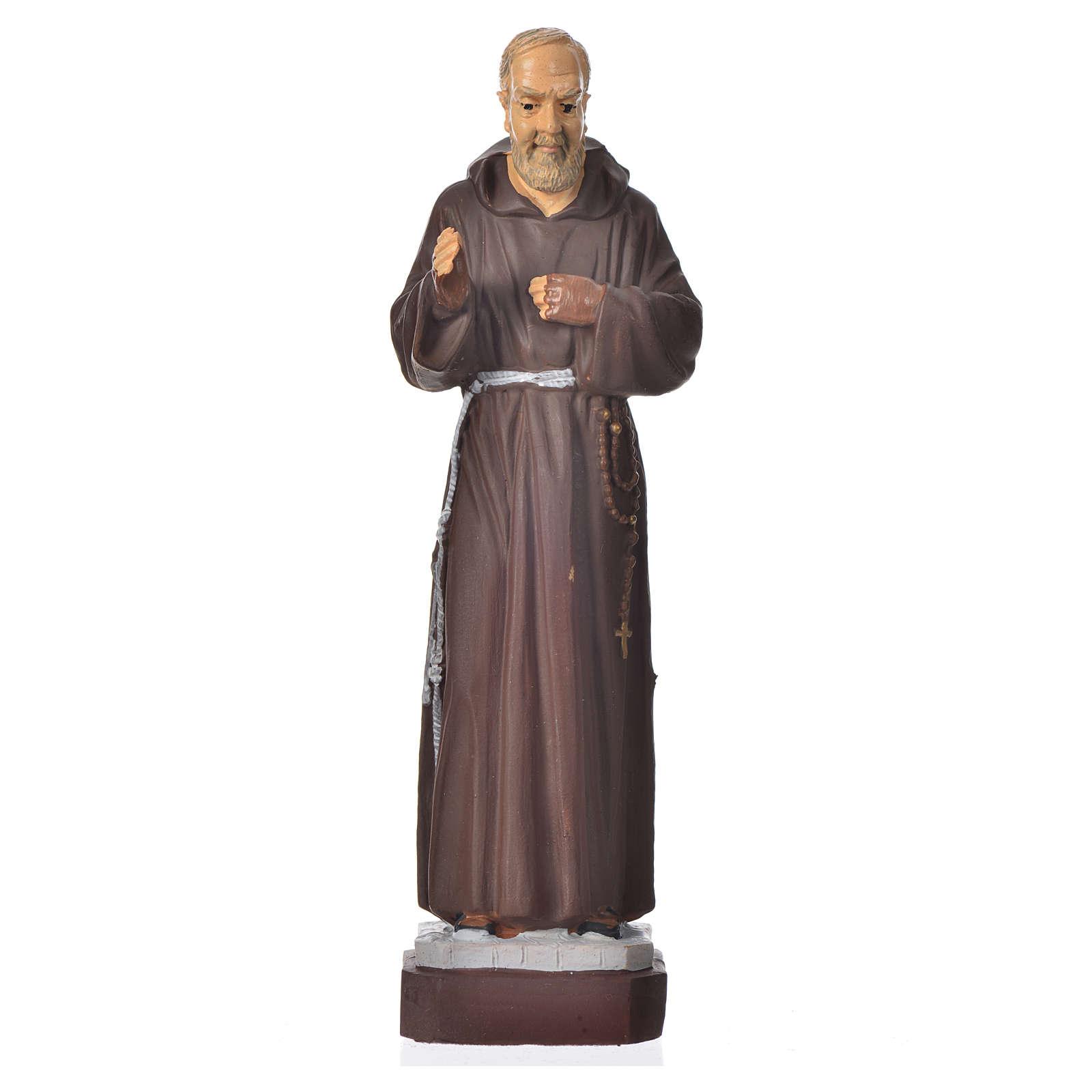 Padre Pio statue pvc incassable 16 cm 4