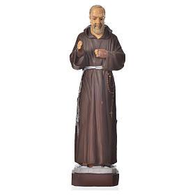 Imagens em Resina e PVC: Padre Pio 16 cm material inquebrável
