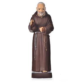 Imagens em Resina e PVC: Padre Pio 20 cm pvc inquebrável