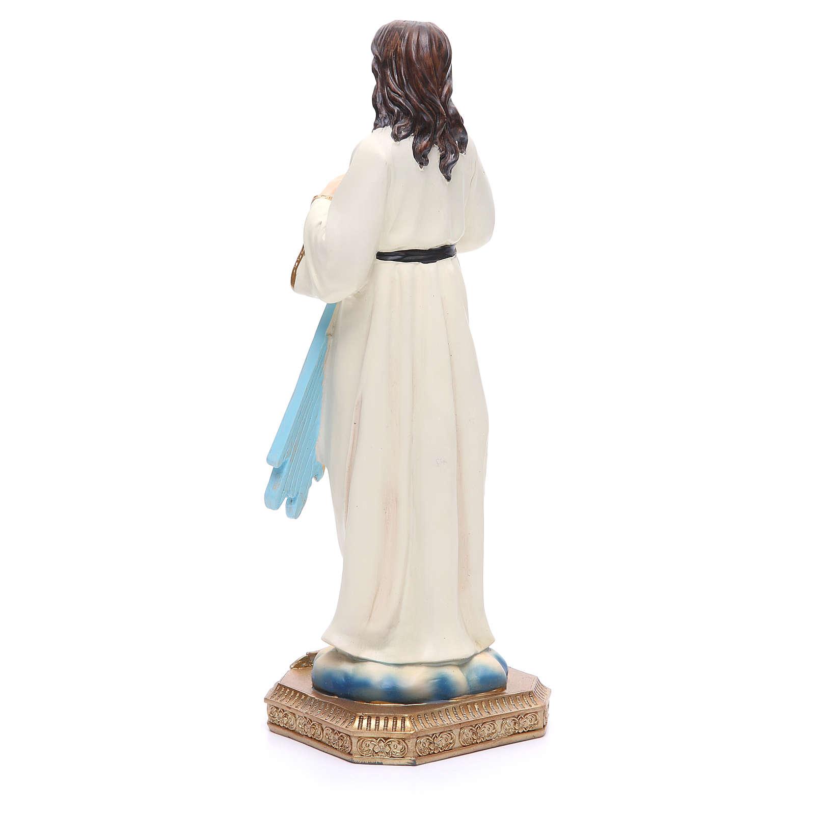 Statua Gesù Misericordioso 30,5 cm resina colorata 4