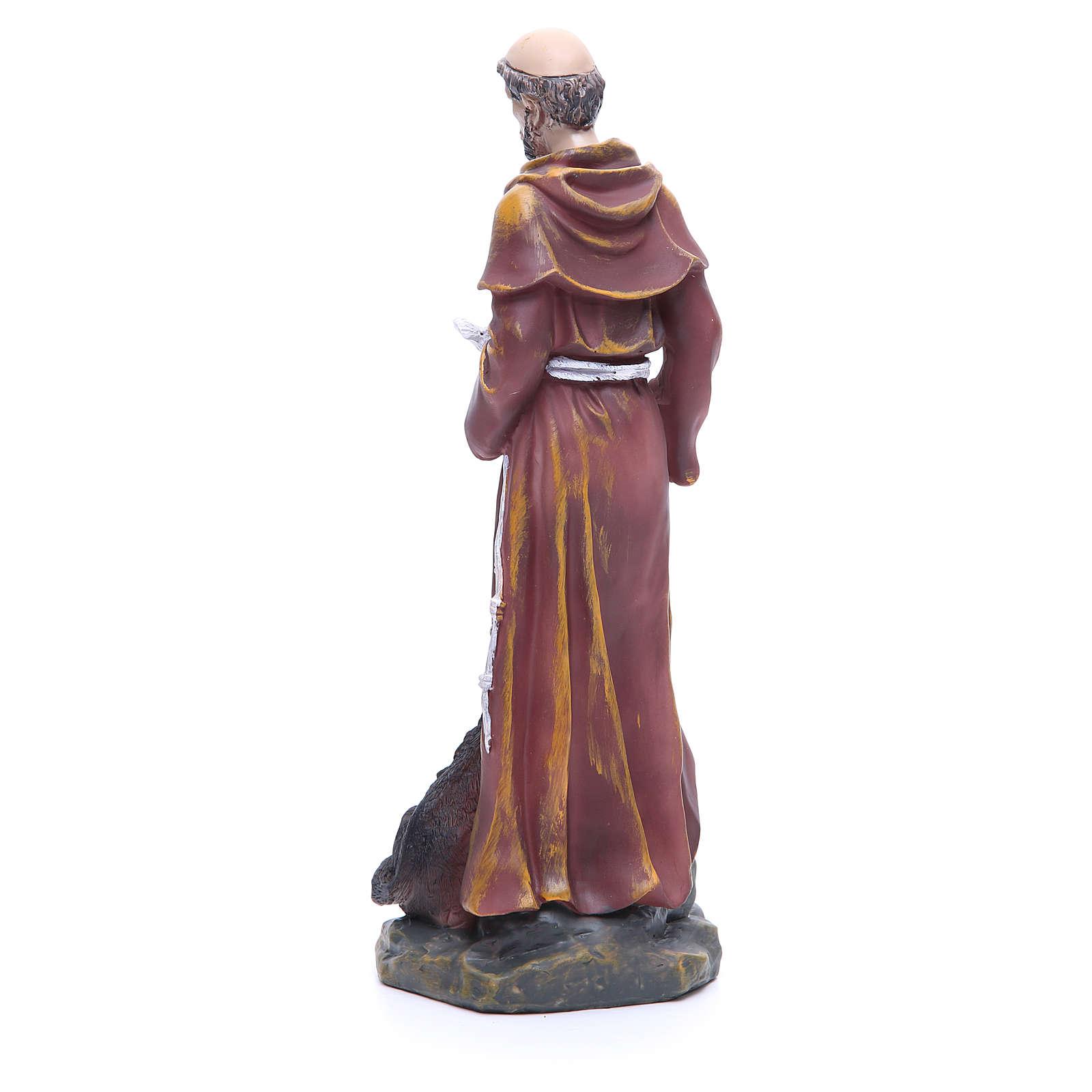 Statue en résine Saint François 30 cm 4