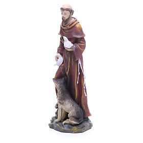Statue en résine Saint François 30 cm s2