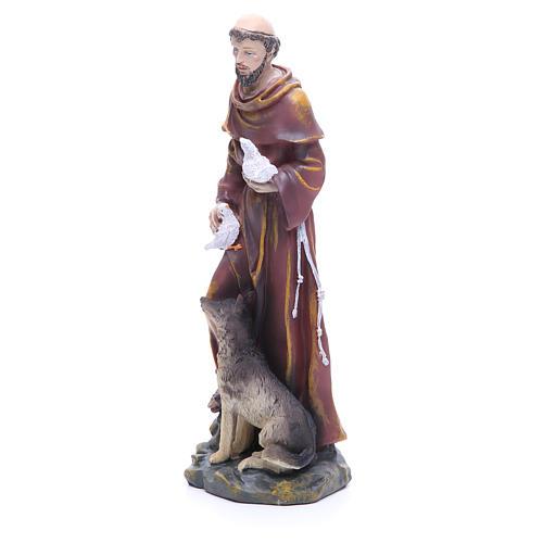 Statue en résine Saint François 30 cm 2