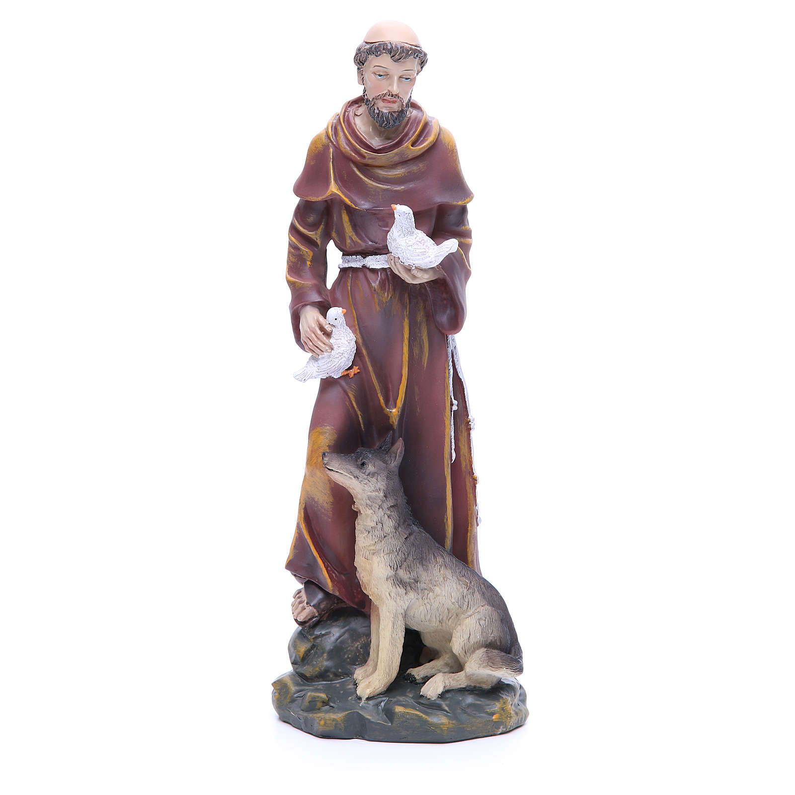 Statua in resina San Francesco 30 cm 4