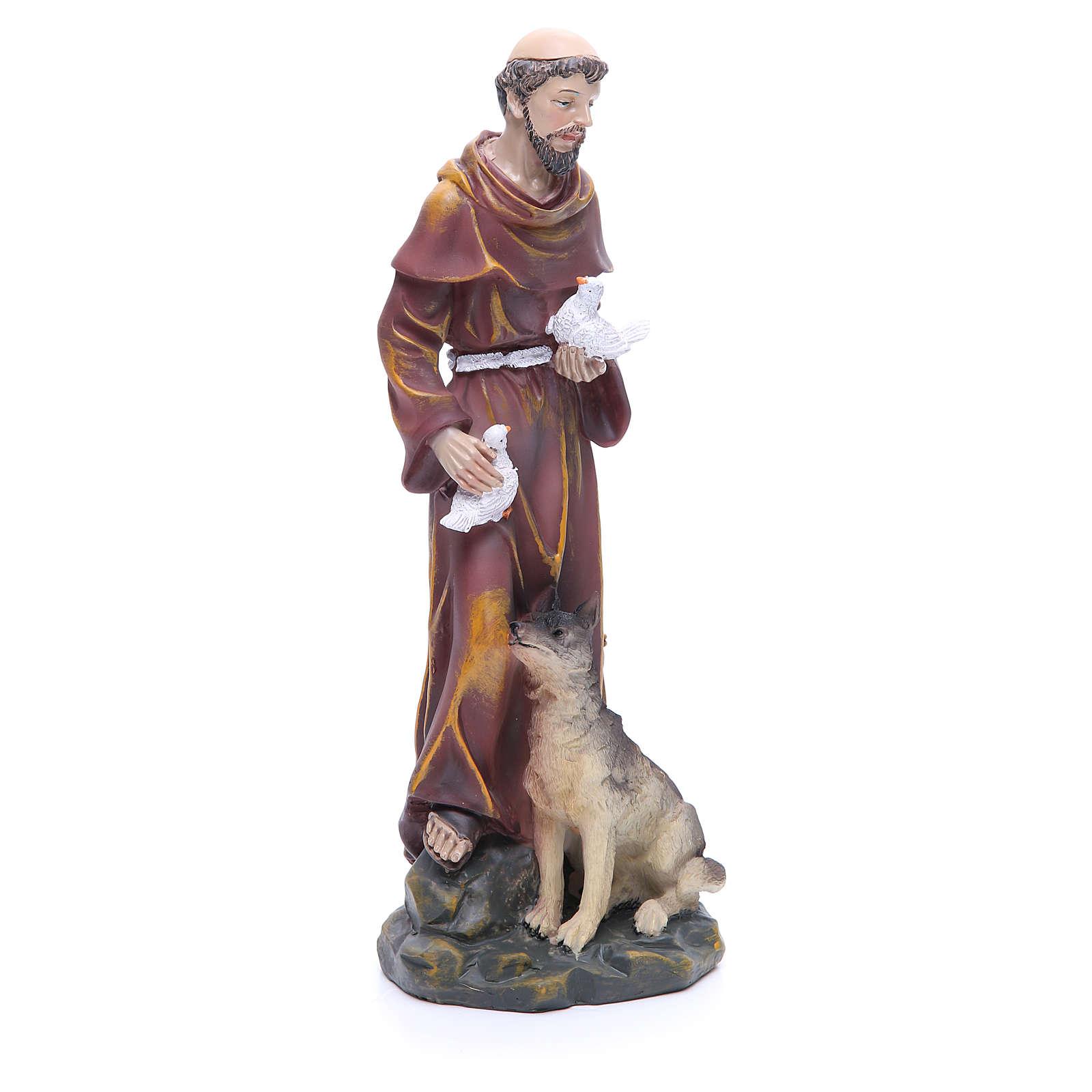 Statua in resina San Francesco 30 cm 4