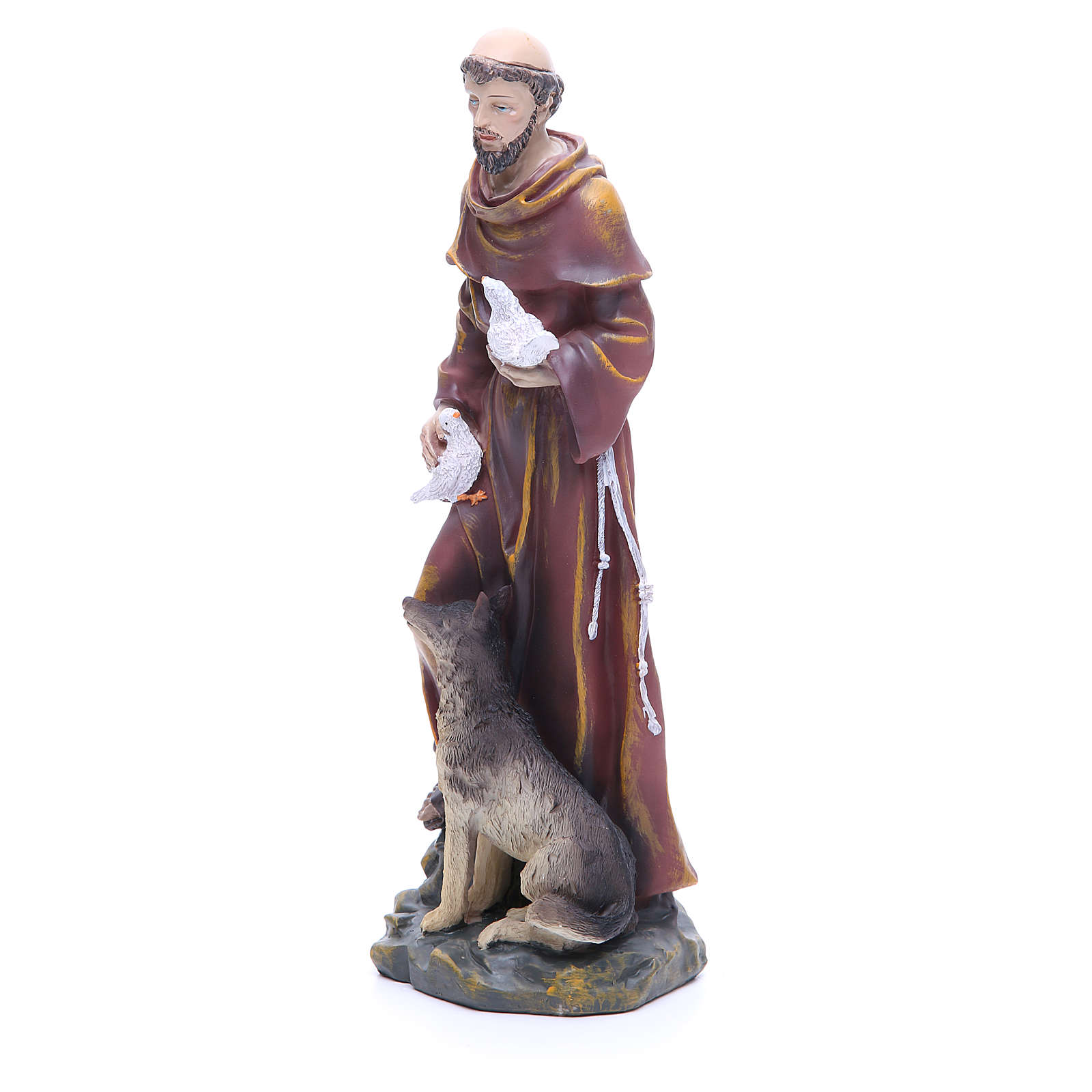 Saint Francis resin statue 12 inches 4