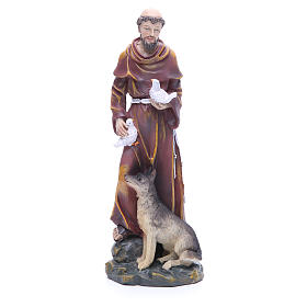 Resin & PVC statues: Saint Francis resin statue 12 inches