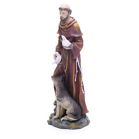 Saint Francis resin statue 12 inches s2