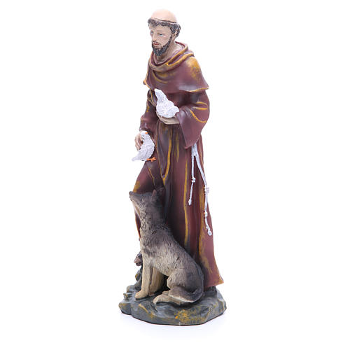 Saint Francis resin statue 12 inches 2