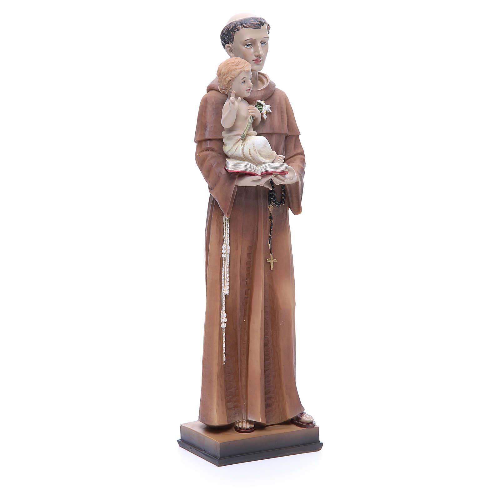 Statue Saint Antoine 30 cm résine colorée 4