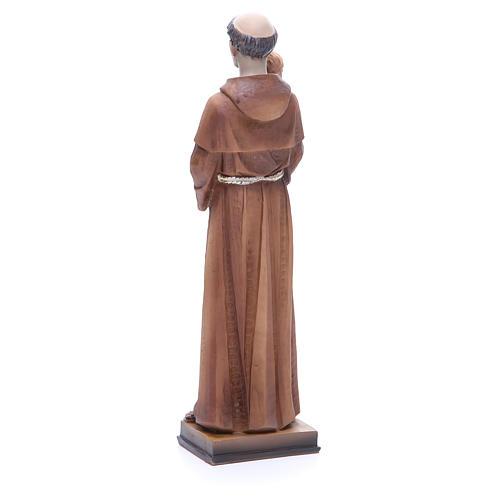 Statue Saint Antoine 30 cm résine colorée 3
