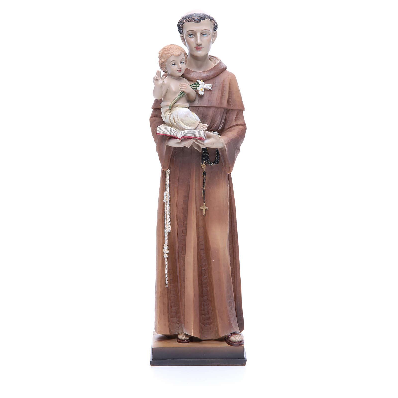 Imagem Santo António 30 cm resina corada 4