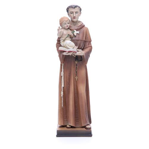 Imagem Santo António 30 cm resina corada 1