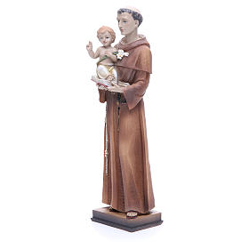 Statue of Saint Anthony 30 cm in coloured resin s2