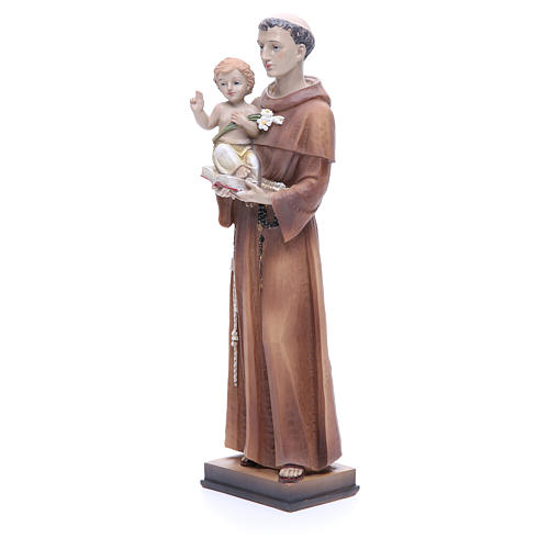 Statue of Saint Anthony 30 cm in coloured resin 2