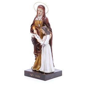 Estatua Santa Ana y María 30,5 cm resina s2