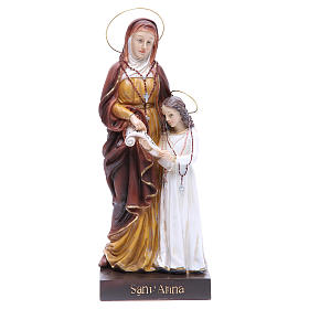 Statua Sant'Anna e Maria 30,5 cm resina s1