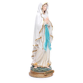Statue in resin Our Lady of Lourdes 32 cm s4