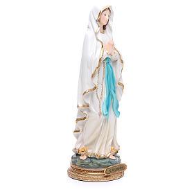 Estatua Virgen de Lourdes 32 cm resina s4