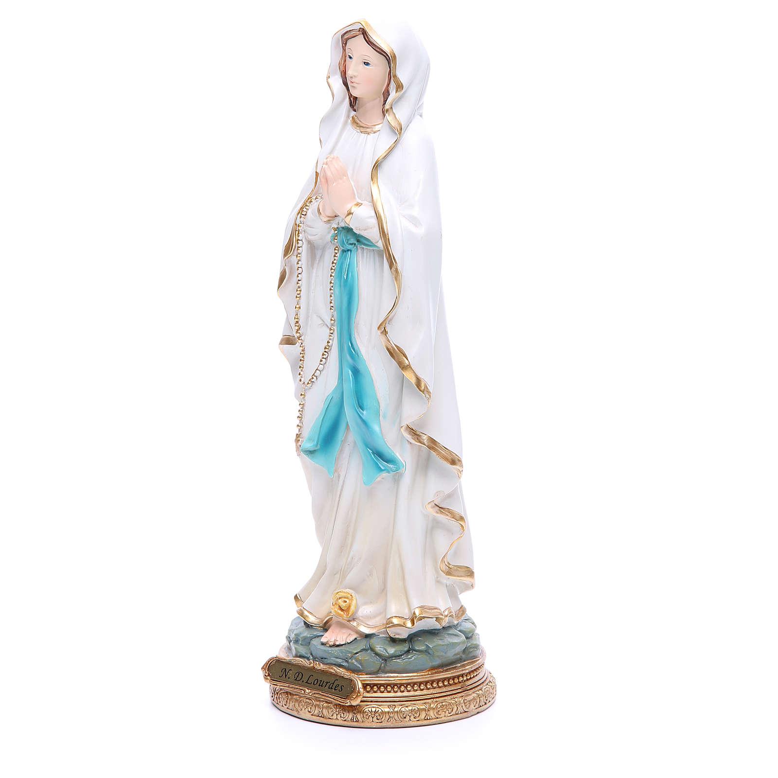 Statue Notre-Dame de Lourdes 32 cm résine 4