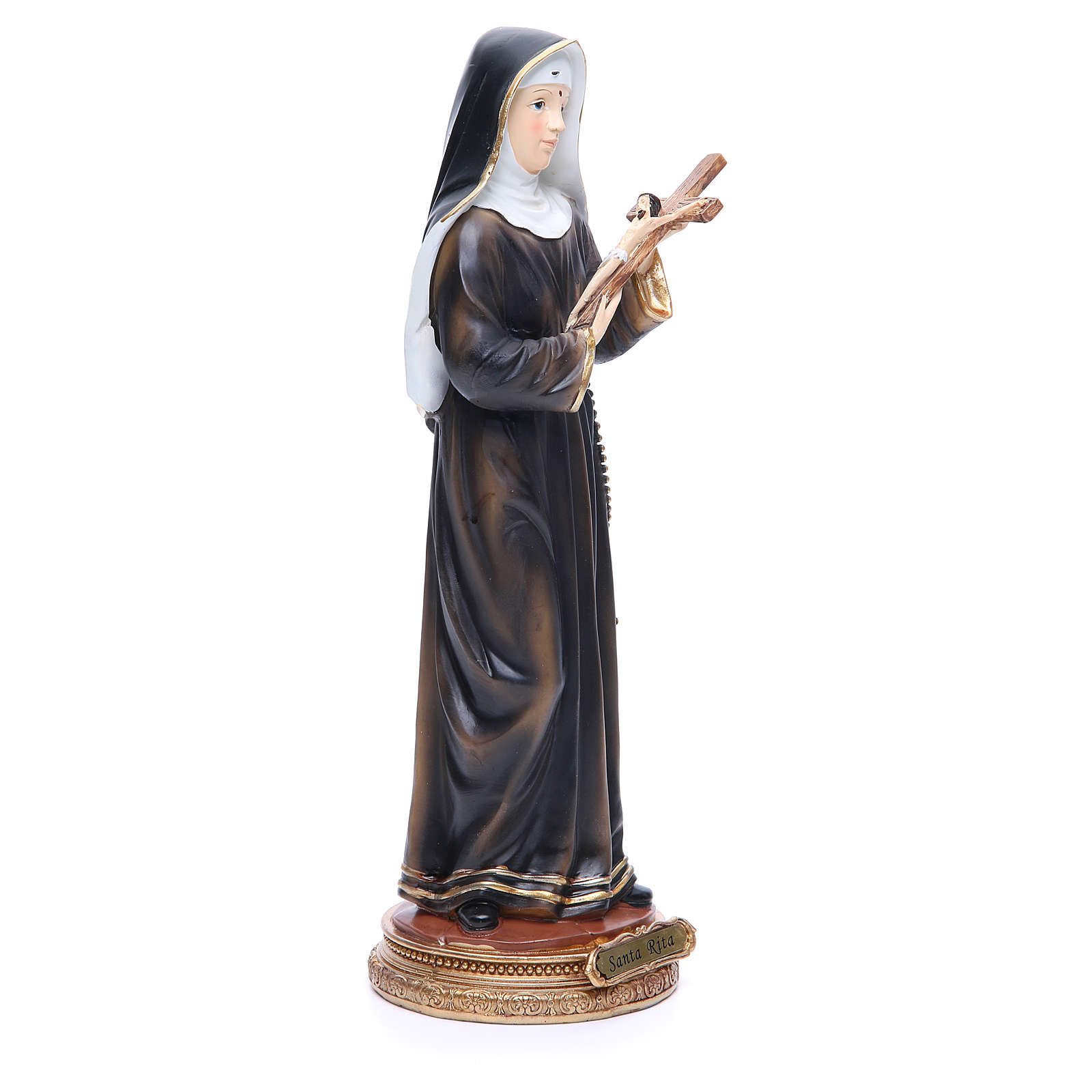 Statue Sainte Rita 32 cm résine 4