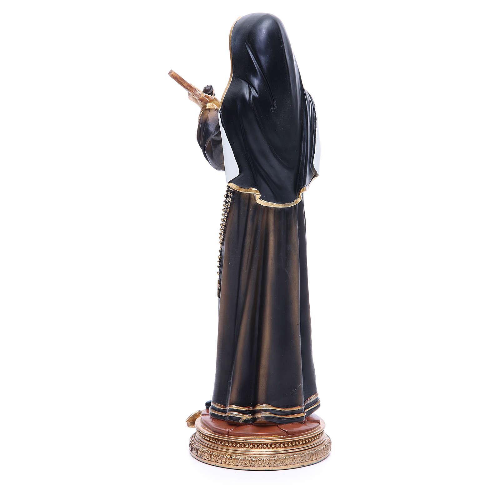 Statua Santa Rita 32 cm resina 4