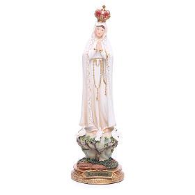 Imagen Virgen de Fátima 33 cm resina s1