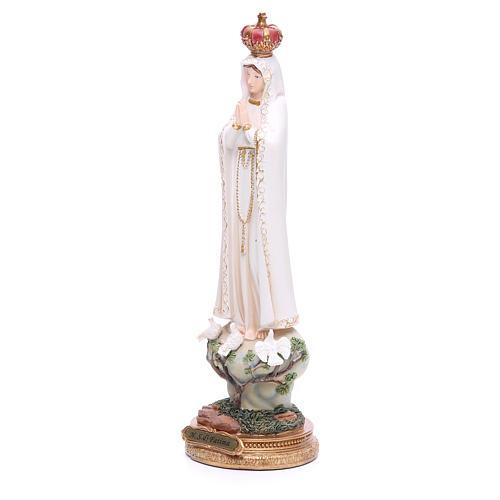 Imagen Virgen de Fátima 33 cm resina 2