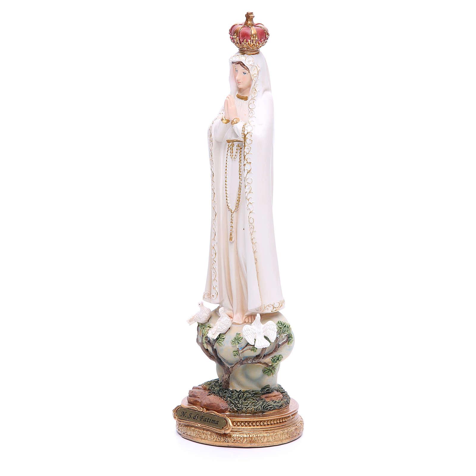 Statue Notre-Dame de Fatima 33 cm résine 4