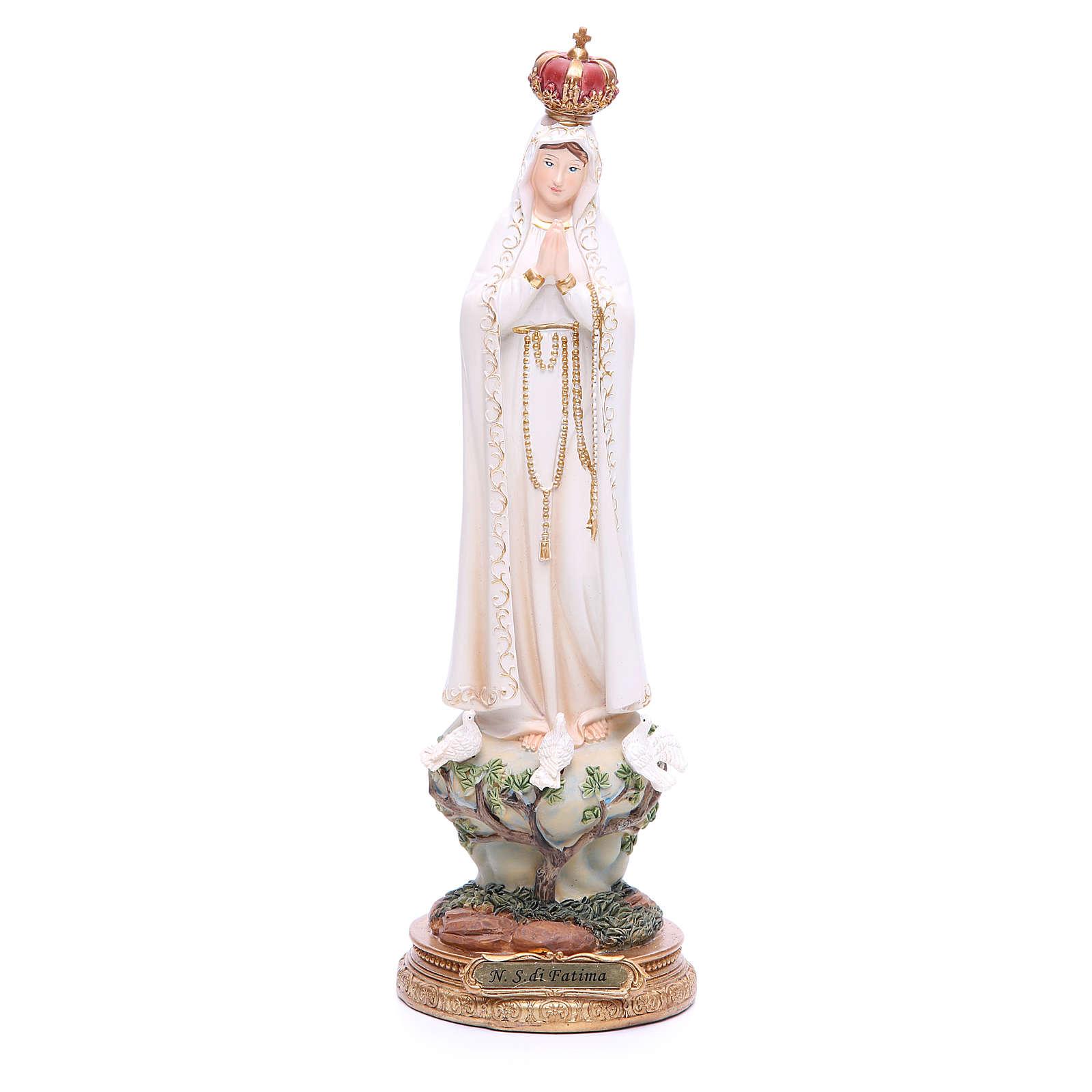 Statua Madonna di Fatima 33 cm resina 4