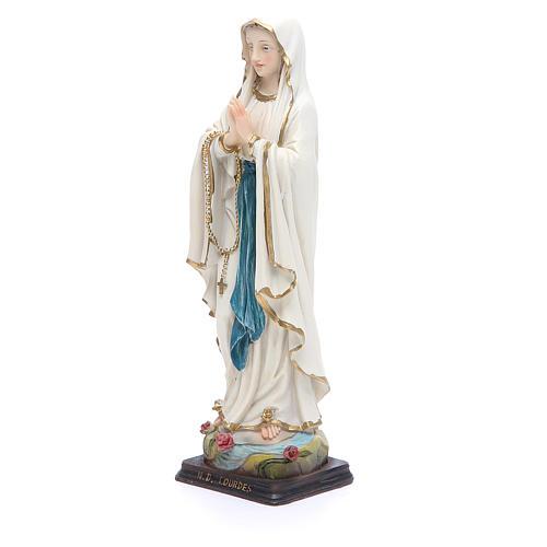 Statua Madonna Lourdes 20,5 cm resina 2