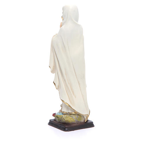 Statua Madonna Lourdes 20,5 cm resina 3