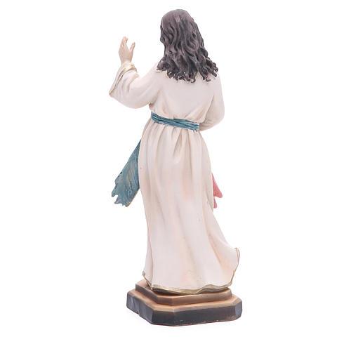 Statue Barmherziger Jesus 20.5 cm aus Kunstharz 3