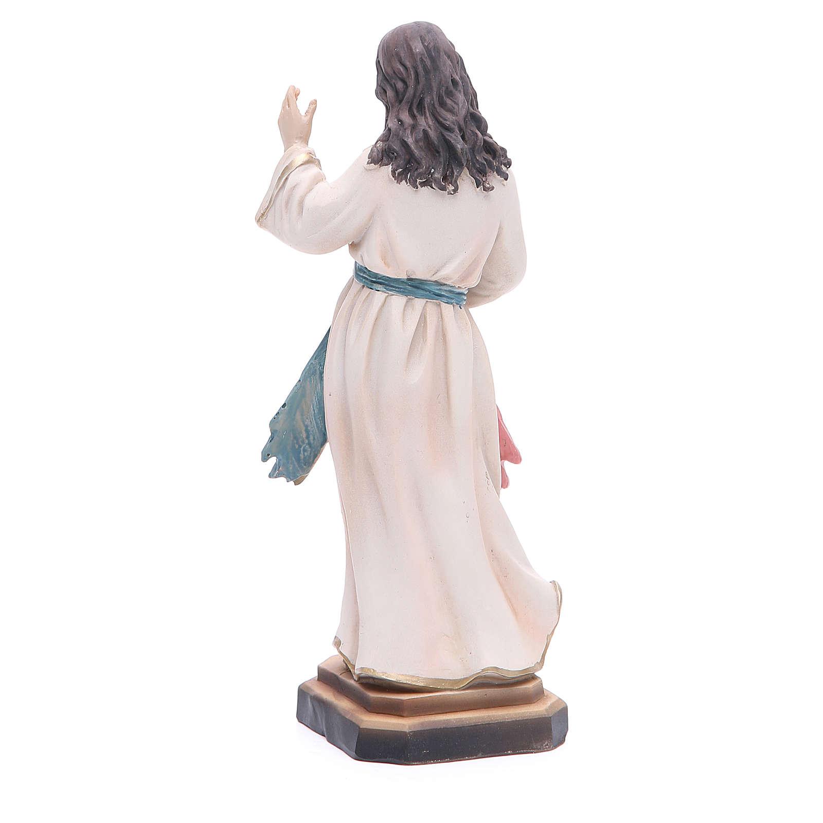 Statua Gesù Misericordioso 20,5 cm resina 4