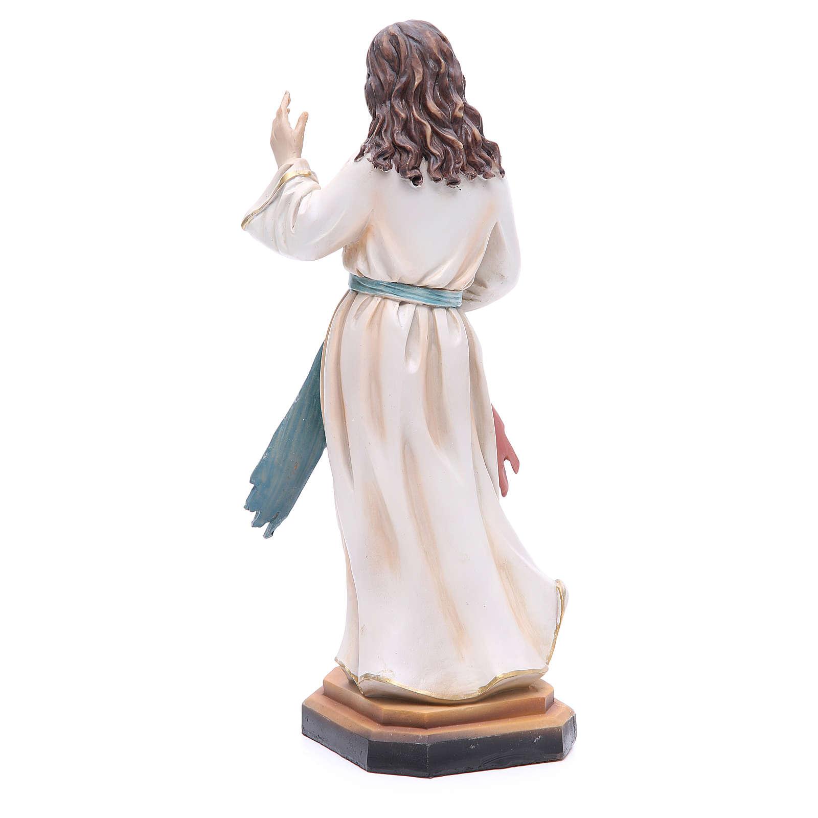 Imagem Jesus Misericordioso em resina 31,5 cm 4