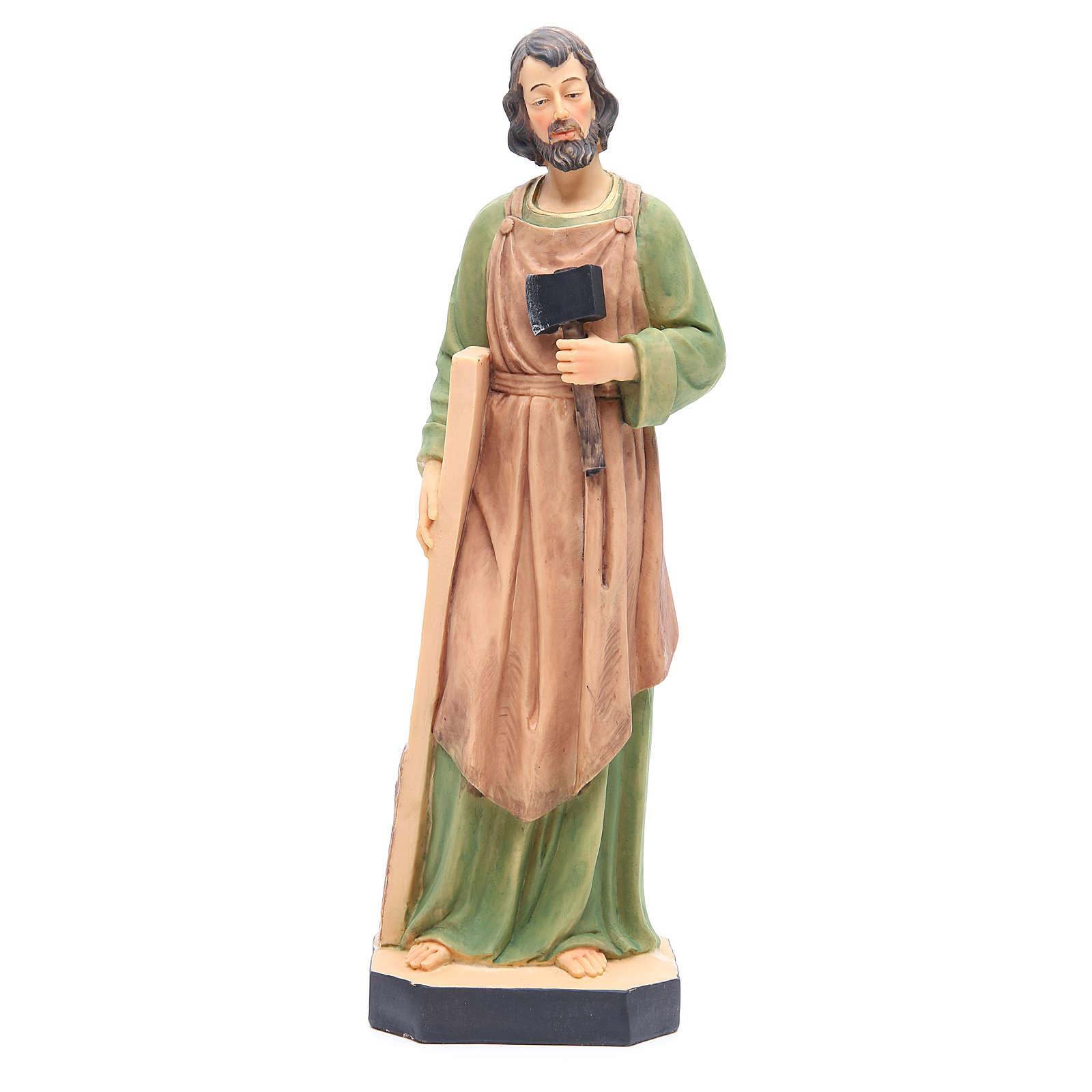 Statua San Giuseppe 40 cm resina con base 4