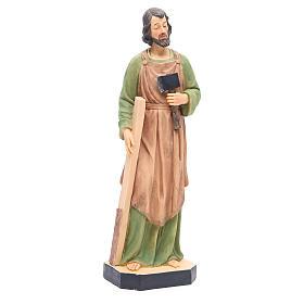 Statua San Giuseppe 40 cm resina con base s4