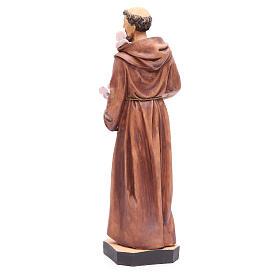 Statue St François 40 cm résine colorée avec base s3