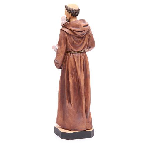 Statua S. Francesco 40 cm resina colorata base 3