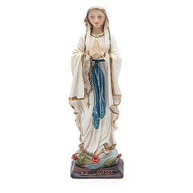 Statua resina Madonna Lourdes 12 cm s1
