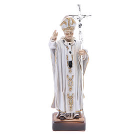 Imagens em Resina e PVC: Imagem Papa João Paulo II 13 cm