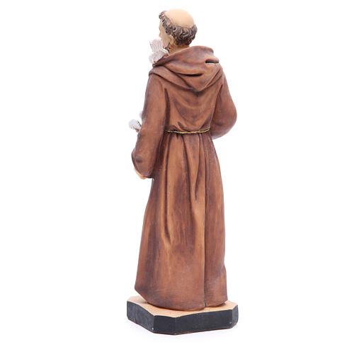 Statua San Francesco 30 cm resina colorata 3