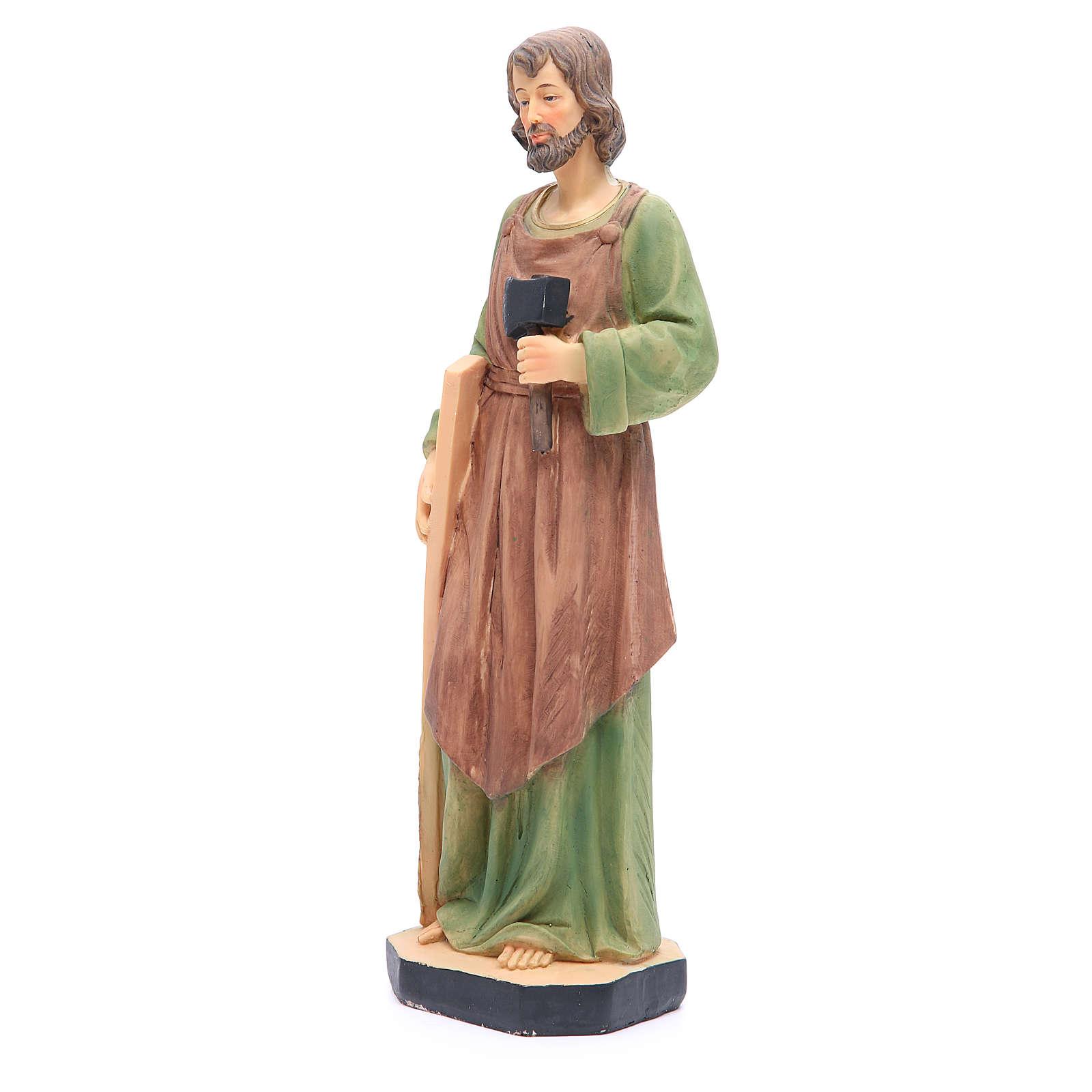 Statua San Giuseppe 30 cm resina colorata 4